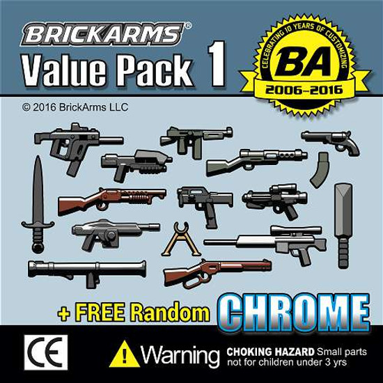 BrickArms Value Pack 1 2.5-Inch Weapons Pack