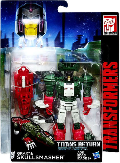 Transformers Generations Titans Return Skullmasher & Grax Deluxe Action Figure