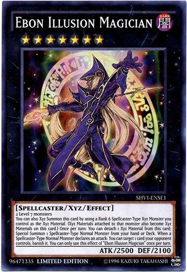 YuGiOh Shining Victories Special Edition Super Rare Ebon Illusion Magician SHVI-ENSE1