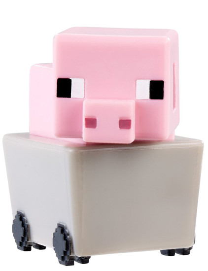 Minecraft End Stone Series 6 Pig In Minecart 1-Inch Mini Figure [Loose]
