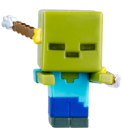 Minecraft End Stone Series 6 Spectral Damage Zombie 1-Inch Mini Figure [Loose]