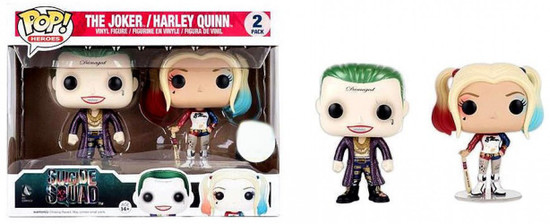 Funko Suicide Squad POP! Movies The Joker & Harley Quinn Exclusive Vinyl Figure 2-Pack [Metallic]