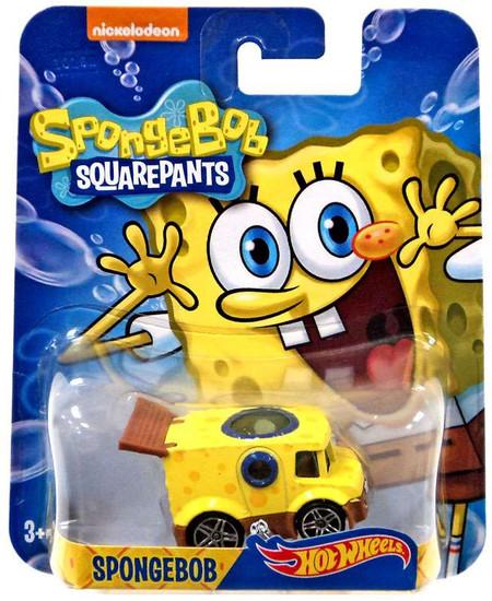 Hot Wheels Spongebob Squarepants Spongebob Diecast Character Car [2016]