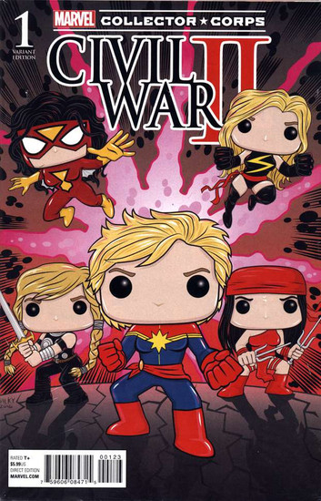 Marvel Comics Civil War II #1 Variant Marvel / Funko Collector Corps Cover Comic Book [Polybagged]