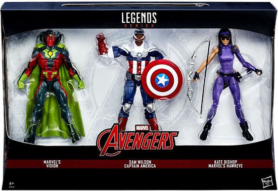 Captain America Civil War Marvel Legends Vision, Sam Wilson & Kate Bishop Exclusive Action Figure 3-Pack