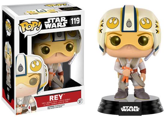 Funko The Force Awakens POP! Star Wars Rey Exclusive Vinyl Bobble Head #119 [X-Wing Helmet]