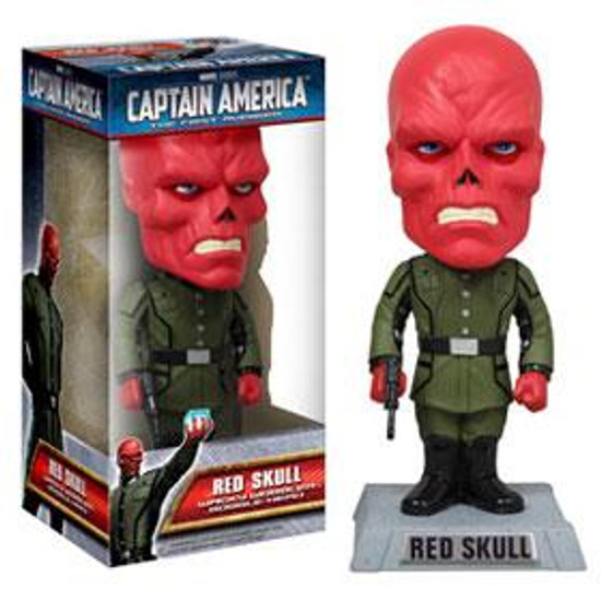Funko Captain America The First Avenger Wacky Wobbler Red Skull Bobble Head