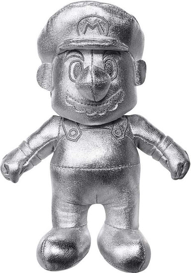 World of Nintendo Super Mario Metal Mario 7-Inch Plush [Silver]