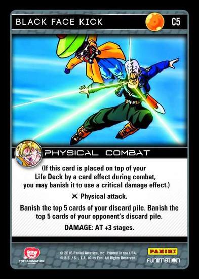 Dragon Ball Z Vengeance Common Foil Black Face Kick C5