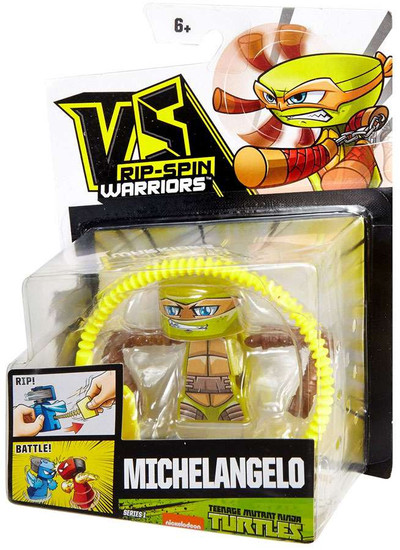 VS Rip-Spin Warriors Teenage Mutant Ninja Turtles Series 1 Michelangelo Single Pack