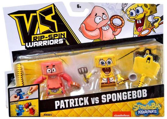 VS Rip-Spin Warriors Spongebob Squarepants Series 1 Patrick vs Spongebob Mini Figure 2-Pack