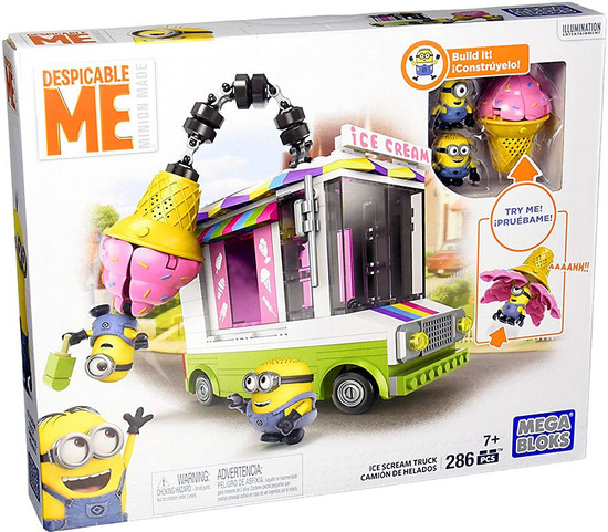 Mega Bloks Despicable Me Minion Made Ice Scream Truck Set #31667