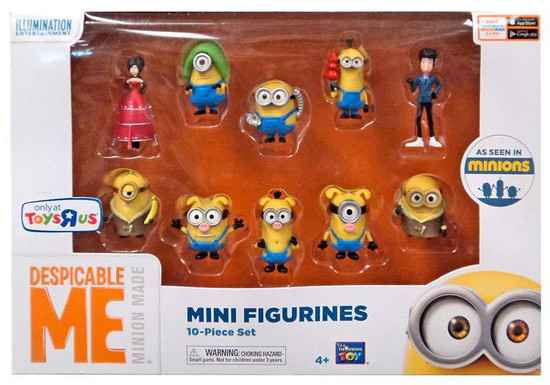 Despicable Me Minions Movie Mini Figurines Exclusive 2-Inch 10-Piece Set [With Scarlet Overkill]