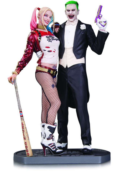 DC Suicide Squad Harley Quinn & The Joker 13.25-Inch Statue