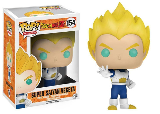 Funko Dragon Ball Z POP! Animation Super Saiyan Vegeta Exclusive Vinyl Figure #154