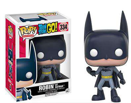Funko DC Teen Titans Go! POP! TV Robin as Batman Exclusive Vinyl Figure #334