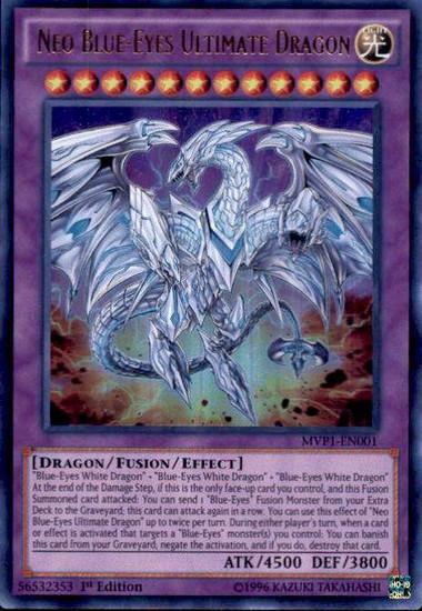 YuGiOh Dark Side of Dimensions Movie Ultra Rare Neo Blue-Eyes Ultimate Dragon MVP1-EN001