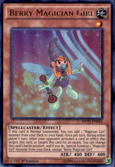 YuGiOh Dark Side of Dimensions Movie Ultra Rare Berry Magician Girl MVP1-EN014