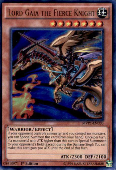 YuGiOh Dark Side of Dimensions Movie Ultra Rare Lord Gaia the Fierce Knight MVP1-EN050