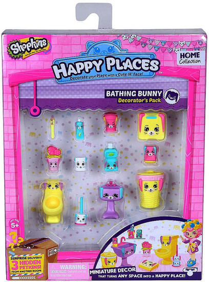 Shopkins Happy Places Series 2 Bathing Bunny Decorator's Pack