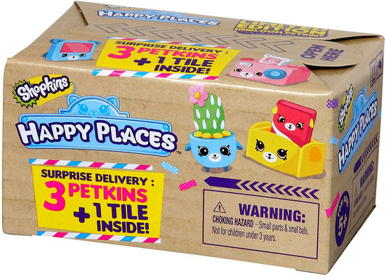 Shopkins Happy Places Series 1 Petkins Surprise Delivery Mystery Pack [3 Petkins & 1 Tile]