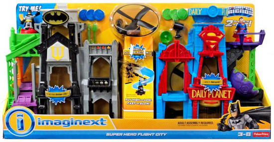 Fisher Price DC Super Friends Imaginext Super Hero Flight City Playset