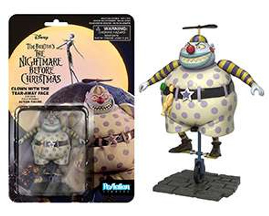 Funko Nightmare Before Christmas ReAction Clown Tearaway Face Action Figure
