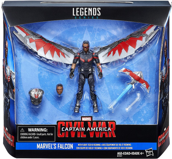 Captain America Civil War Marvel Legends Falcon with Flight Tech & Redwing Action Figure