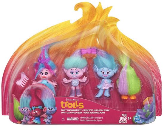 Trolls Troll Town Poppy's Fashion Frenzy Figure 4-Pack