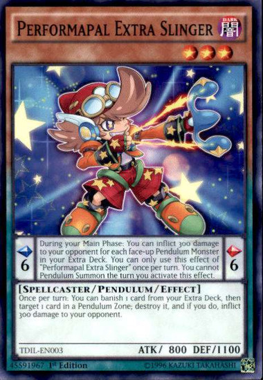 YuGiOh The Dark Illusion Common Performapal Extra Slinger TDIL-EN003