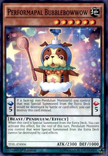 YuGiOh The Dark Illusion Common Performapal Bubblebowwow TDIL-EN006