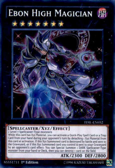 YuGiOh The Dark Illusion Super Rare Ebon High Magician TDIL-EN052