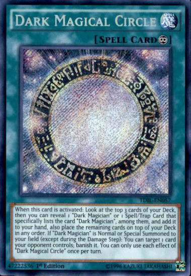YuGiOh The Dark Illusion Secret Rare Dark Magical Circle TDIL-EN057