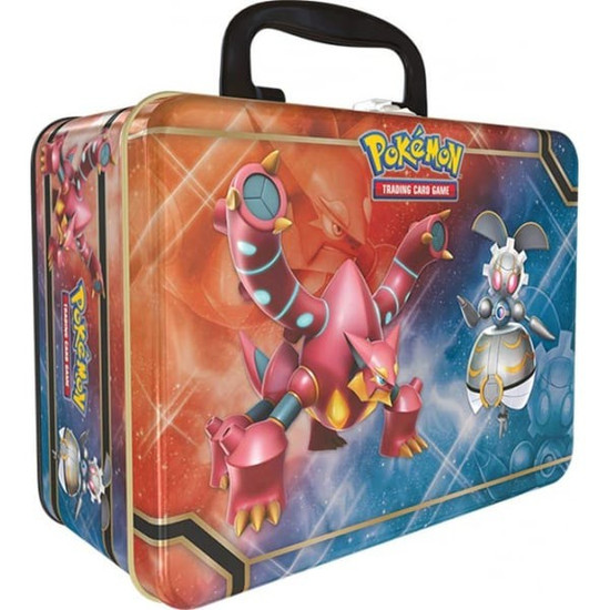 Pokemon Trading Card Game 2016 Collector's Chest Volcanion, Magearna & Shiny Mega Gengar-EX Tin Set [5 Booster Packs, 3 Promo Cards, Mini Portfolio, Coin & More]
