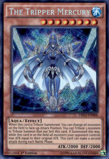 YuGiOh Dragons of Legend: Unleashed Secret Rare The Tripper Mercury DRL3-EN006