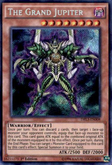 YuGiOh Dragons of Legend: Unleashed Secret Rare The Grand Jupiter DRL3-EN008