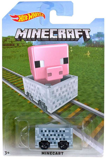 Hot Wheels Minecraft Minecart Diecast Car [Pig]