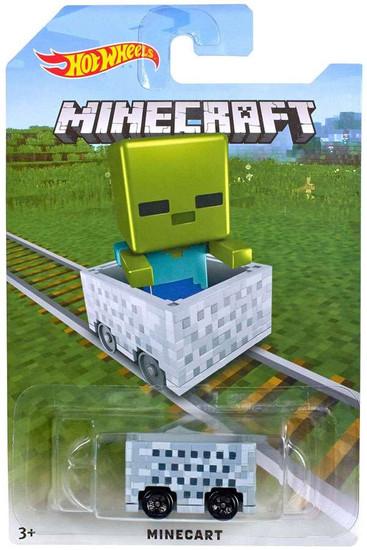 Hot Wheels Minecraft Minecart Diecast Car [Zombie]