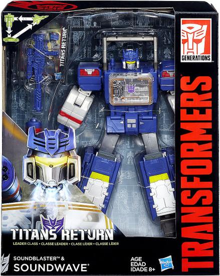 Transformers Generations Titans Return Soundblaster & Soundwave Leader Action Figure