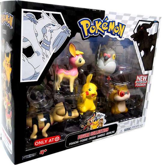 Pokemon Black & White Figure 5-Pack [Pikachu, Pidove, Patrat, Pink Deerling (Spring Form) & Sandile]