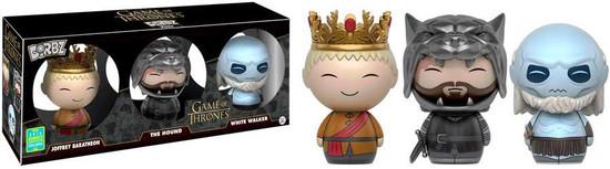 Funko Game of Thrones Dorbz Joffrey Baratheon, The Hound & White Walker Exclusive Vinyl Figure 3-Pack