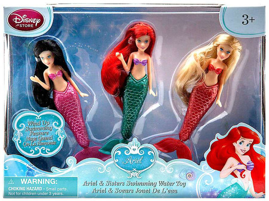 Disney The Little Mermaid Ariel & Sisters Swimming Exclusive Bath Toy