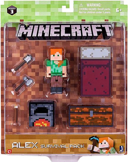 Minecraft Series 3 Alex Survival Pack Action Figure Set