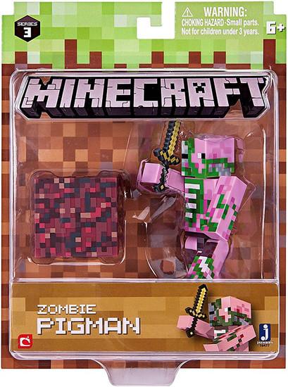 Minecraft Series 3 Zombie Pigman Action Figure Set