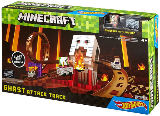 Hot Wheels Minecraft Ghast Attack Track Set