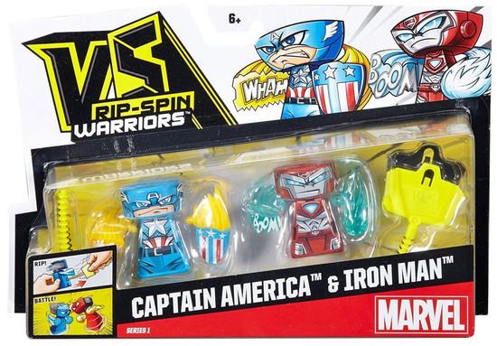 VS Rip-Spin Warriors Marvel Series 1 Captain America & Iron Man 2-Pack