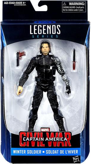 Captain America Civil War Marvel Legends Winter Soldier Exclusive Action Figure