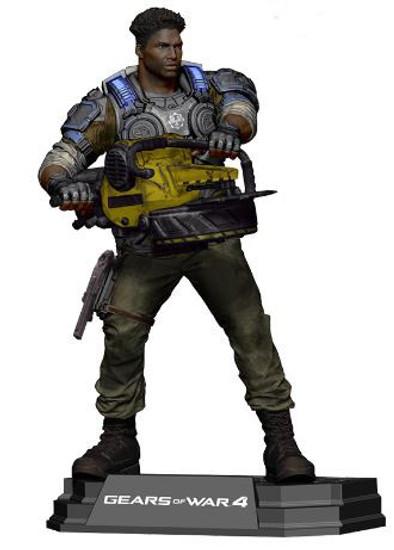 McFarlane Toys Gears of War 4 Color Tops Blue Wave Del Walker Action Figure #14