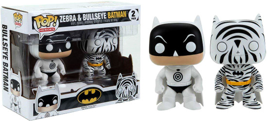 Funko DC Universe POP! Heroes Zebra & Bullseye Batman Exclusive Vinyl Figure 2-Pack #01