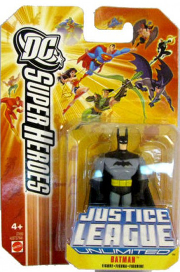DC Justice League Unlimited Super Heroes Batman Action Figure [Yellow Card]